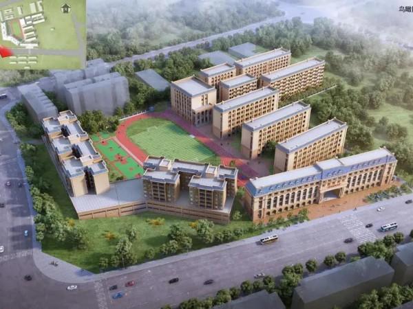 健康苹果助力贺州现代高级中学,打造真石漆外墙绿色校园