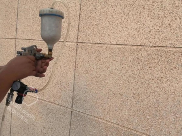 仿石漆施工流程